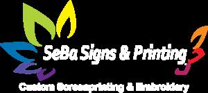 SeBa Signs Logo White